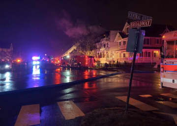 One person was killed in a house fire on Broadway in Ocean Grove on Thursday, Feb. 6, 2020 that forced several nearby houses to be evacuated. (Photo: Neptune Township Office of Emergency Management) (Neptune Township Office of Emergency Management/)