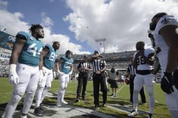 ジャクソンビル・ジャガーズとニューオーリンズ・セインツ【AP Photo/Phelan M. Ebenhack】