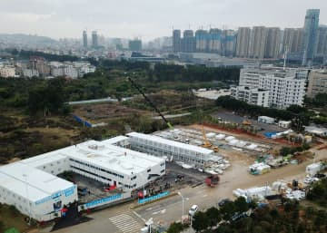 福清市医院の新感染症病棟、第1期工事が完了