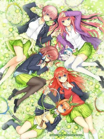 TVアニメ「五等分の花嫁」と「白猫テニス」のコラボが2月14日より開催決定!