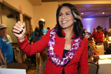 Democratic presidential candidate Tulsi Gabbard: Something's a little strange when the most antiwar candidate in the Democratic field is ostracized for her pro-peace views.    (AP Photo/Marco Garcia, File) (Marco Garcia/)