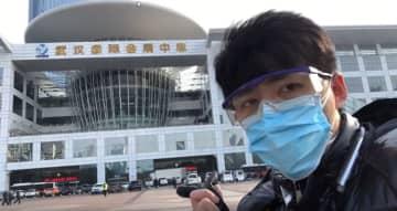 Chen Qiushi in Wuhan. Photo: Screenshot.