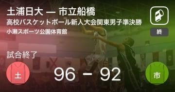 【高校バスケットボール新人大会関東男子準決勝】土浦日大が市立船橋を破る