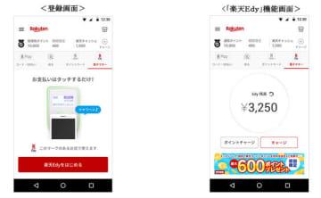 「楽天ペイ」で「楽天Edy」機能が使える、Edy200円分もらえるキャンペーンも