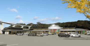 広域道の駅はL字形平屋 久慈北IC付近に開設