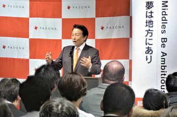 就職氷河期世代の採用について熱く語るパソナグループの南部靖之代表=大阪市内