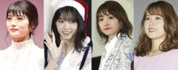左から若月佑美、西野七瀬、生駒里奈、衛藤美彩