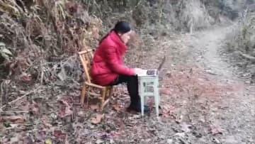 江西省吉安市の山奥から中学校の授業をライブ配信