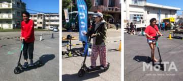 沖縄県宮古島で電動キックボード試乗会開催