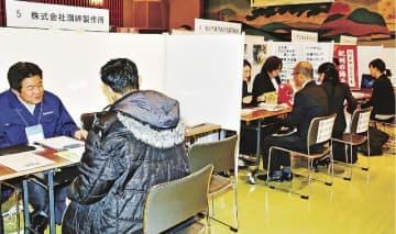 再就職を支援するために開かれた合同企業説明会(和歌山県田辺市新屋敷町で)