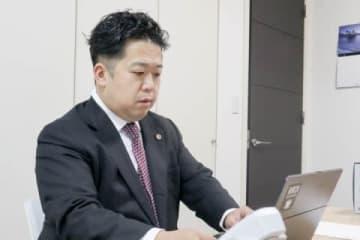 代理人を務めた唐澤貴洋弁護士(2020年2月14日、弁護士ドットコム撮影、東京都内)