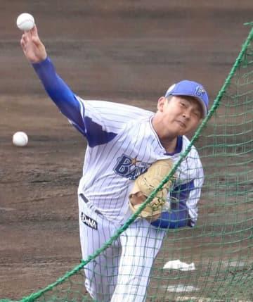 今季初の打撃投手を務めた山崎康