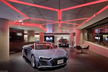 「Audi City紀尾井町」の店内の様子。(画像: アウディ ジャパンの発表資料より)