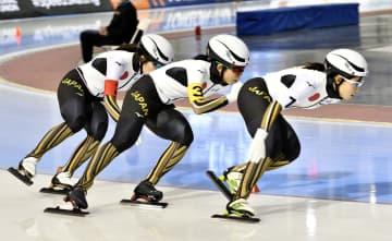 スケート日本女子団体、世界新V