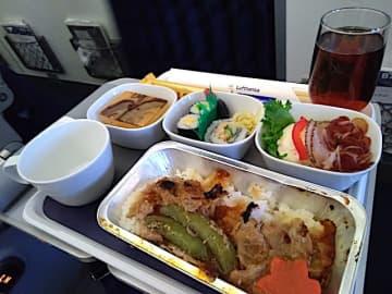 【機内食ルポ】選択肢は肉オンリー!「ルフトハンザドイツ航空(羽田発→フランクフルト LH717便)」... 画像