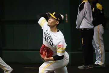 鷹・千賀、今キャンプで最多80球 ふくらはぎの回復順調「久しぶりで疲れた」