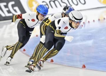 スケート、男子団体追い抜きが銀