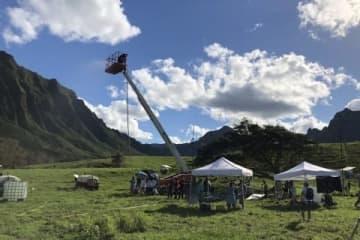 ハワイでの撮影現場(写真は西谷さん提供)