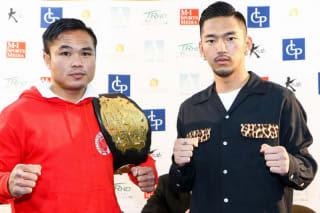 ゴンナパー(左)vs篠原悠人(右)のタイトルマッチが決定(C)M-1 Sports Media