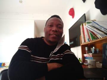 マラウイ出身の防疫ボランティア広報係