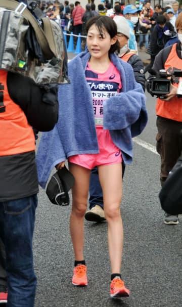 青梅マラソンで30キロ日本記録を樹立した前田穂南=青梅市