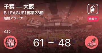 【速報中】3Q終了し千葉が大阪に13点リード