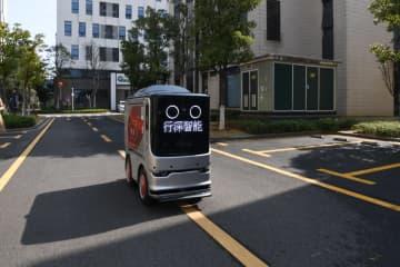 ロボットが生産再開企業に弁当を無料配送 湖南省長沙市