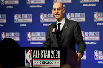 NBA commissioner Adam Silver says he expects Chinese television to resume showing NBA games.