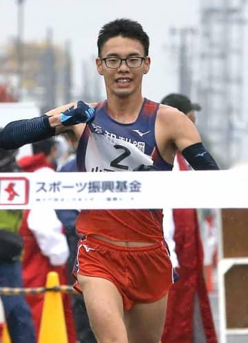 山西、悲願の初V 陸上日本選手権20キロ競歩、女子は岡田V6