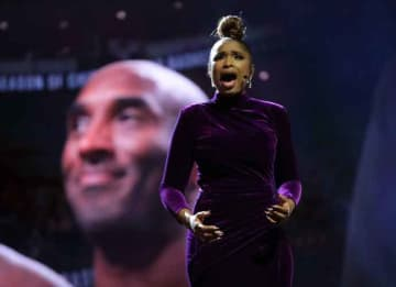 CHICAGO, ILLINOIS - FEBRUARY 16: Jennifer Hudson performs a tribute to Kobe Bryant before the 69th NBA All-Star Game at the United Center on February 16, 2020 in Chicago, Illinois.