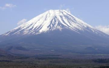 山梨県側から望む富士山