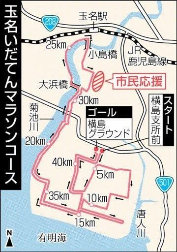 いだてんマラソン、応援きてね 大会当日に無料バス 熊本県玉名市 23日