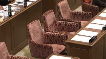 野党 審議拒否で予算委一時中断 「桜」首相答弁メモめぐり