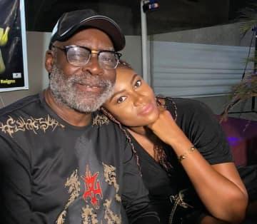 Kofi Adjorlolo and Yvonne Nelsonat Ebony's memorial party