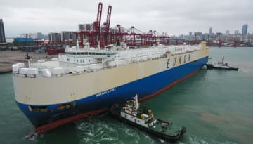 海南自由貿易試験区に自動車運搬船が初入港