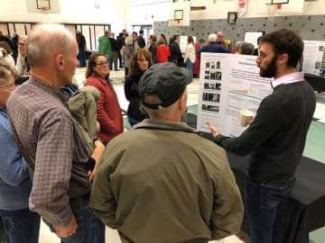 Hundreds gathered at the community development fair held on Feb. 1 to learn about the city's proposed projects. (Courtesy/)