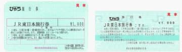 JR東日本旅行券イメージ