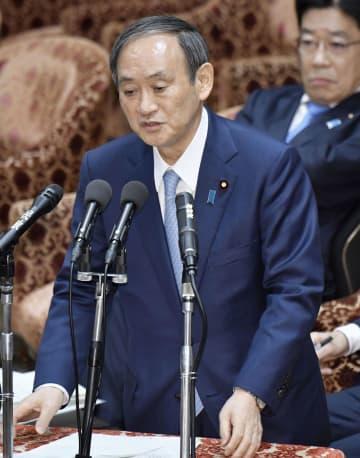 菅氏、首相の虚偽答弁を否定