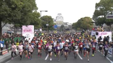 2019年に行われた姫路城マラソン