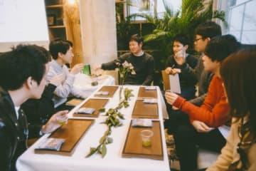 深い緑が美しい鹿児島県産「知覧茶」 異業種コラボ見据え交流イベントで意見交換 画像