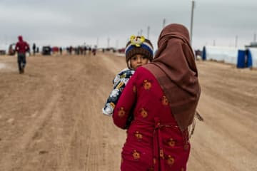 The Syrian army's offensive, backed by Russian air power, has triggered the biggest wave of displaced civilians in the nine-year conflict.