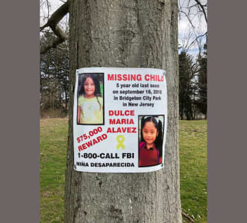 A display honoring missing Bridgeton 5-year-old Dulce Maria Alavez will be located around this oak tree in Bridgeton City Park. (Provided Photo/)