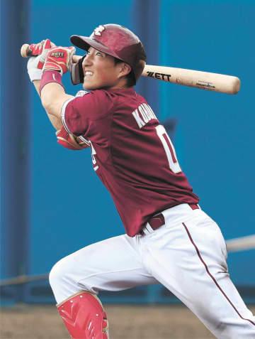 ヤクルトとの練習試合で2安打1盗塁とアピールした東北楽天・小深田