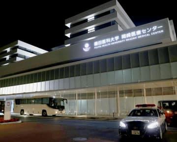 新型コロナウイルス感染者らを受け入れた愛知県岡崎市の藤田医科大岡崎医療センター=19日、愛知県岡崎市