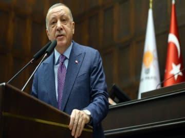 Erdogan praises 'eternal brotherhood' with disaster-stricken Lebanon while making veiled jibes at 'parading' Macron