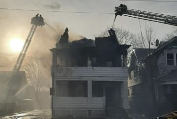 A fire engulfed a Clifton home on Thursday afternoon and displaced 21 people. (American Red Cross New Jersey Region/)