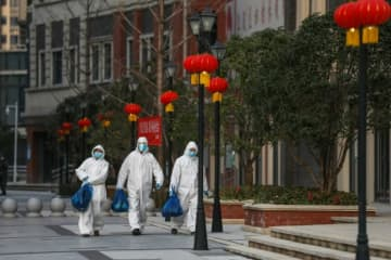 The Chinese epicentre of Wuhan continues to be badly affected by the new coronavirus.