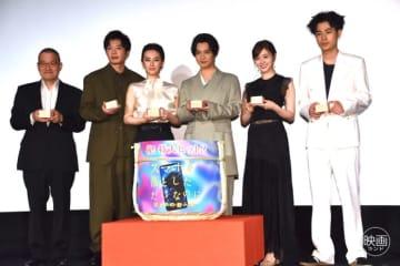 北川景子と田中圭がサプライズ登壇、千葉雄大・白石麻衣が感涙『スマホを落としただけなのに』初日舞台挨拶