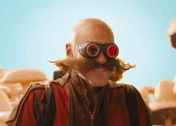 Jim Carrey as Dr. Robotnik (Eggman) in the Sonic the Hedgehog movie