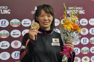 <レスリング>【写真集】2020年アジア選手権・第4日/女子57kg級・川井梨紗子(ジャパンビバレッジ)